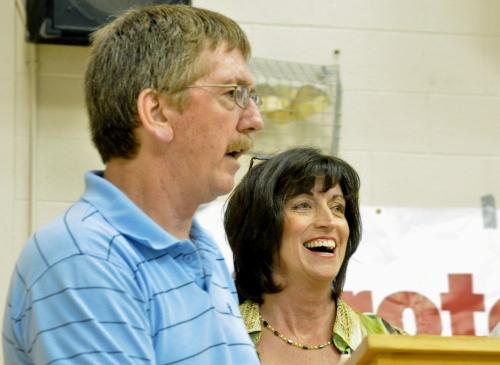 Durham coalition co-chairs Charles Courneyea and Trish McAuliffe
