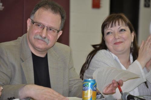 Laurentian University's Reuben Roth with Natalie Mehra
