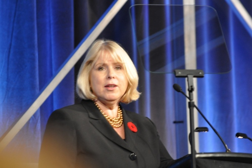 Health Minister Deb Matthews at the OHA HealthAchieve.