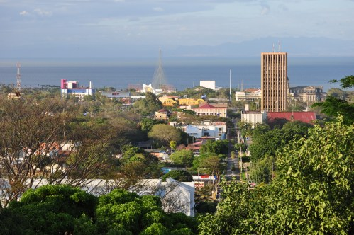 The capital Managua.
