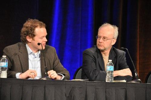 UBC's Michael Law with Saskatchewan health policy analyst Steven Lewis.