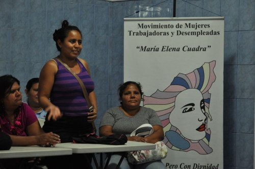 Meeting at Maria Elena Cuadra.