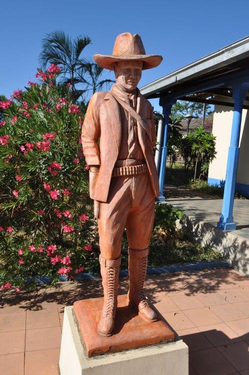 Statue of Sandino outside his home near Masaya.