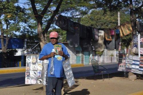One of many roadside venders in Managua.