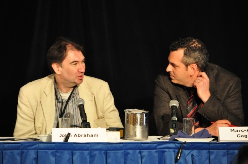 The UK's John Abraham on a panel with Carelton University's Marc Andre Gagnon.