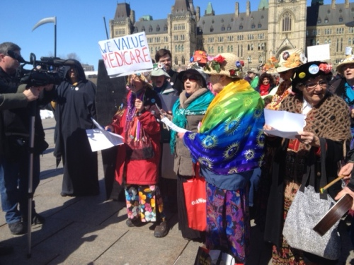 Monday's protest in Ottawa.