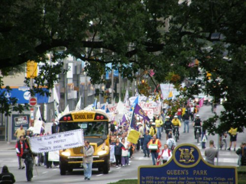 Photograph of coalition march from 2008.