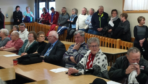 There was standing room only in Elmwood last Friday as residents rallied to save the Restorative Care Unit at the Chesley hospital.
