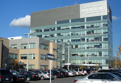 Photograph of the exterior of the Royal Ottawa Centre for Mental Health.